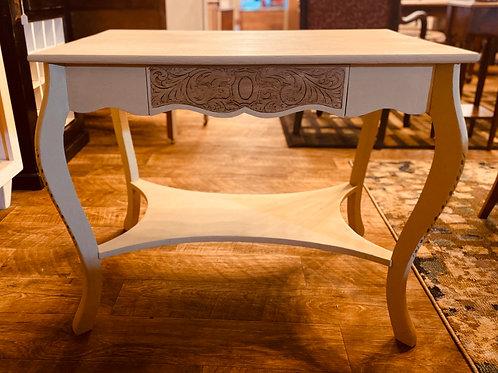 Antique Blond Oak Library Table (t109)