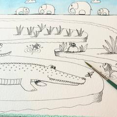 Crocodile ink
