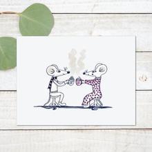 Hot chocolate mice art print