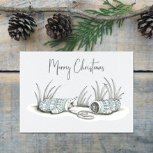 Woodland Animal Cosy Gloves Christmas Card