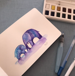 Elephant Water colour