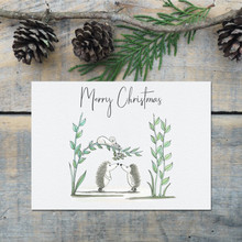 Woodland Animals with Mistletoe, Christmas Card