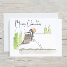 Woodland Animals Delivering Presents, Christmas Card