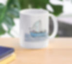 Sailing Mouse coffee mug