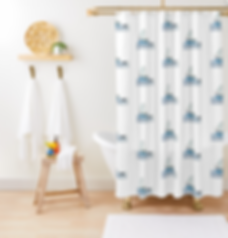 Sailing Boat Mice Shower Curtain