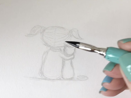 Behind the Scenes of an Artist - Pen and Ink Drawing Process