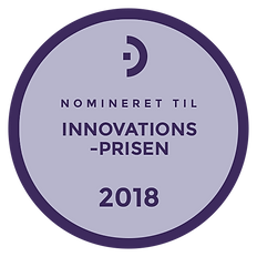 Mærkat for nominering til innovatonsprisen 2018