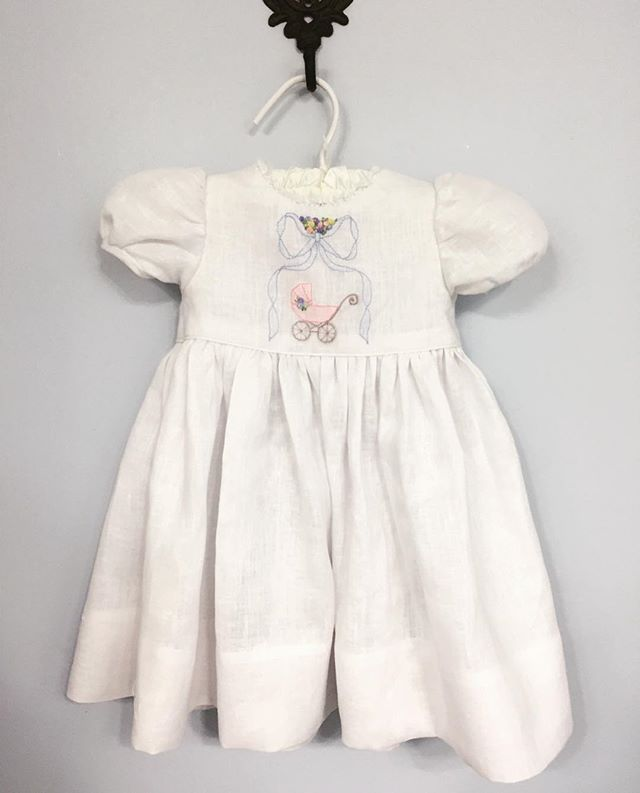 Hand Embroidered Linen Dress