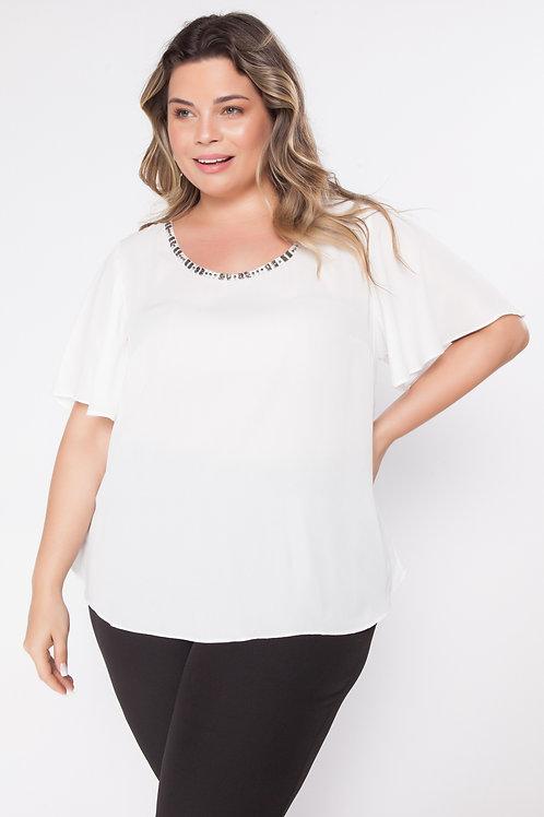 Blusa Plus Size Creponada
