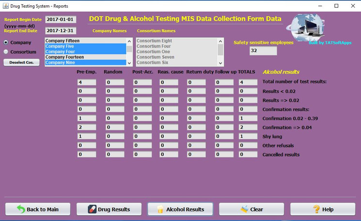 Drug Testing Software DOT Alcohol