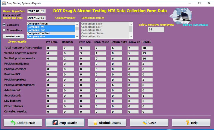 Drug Testing Software DOT Drug