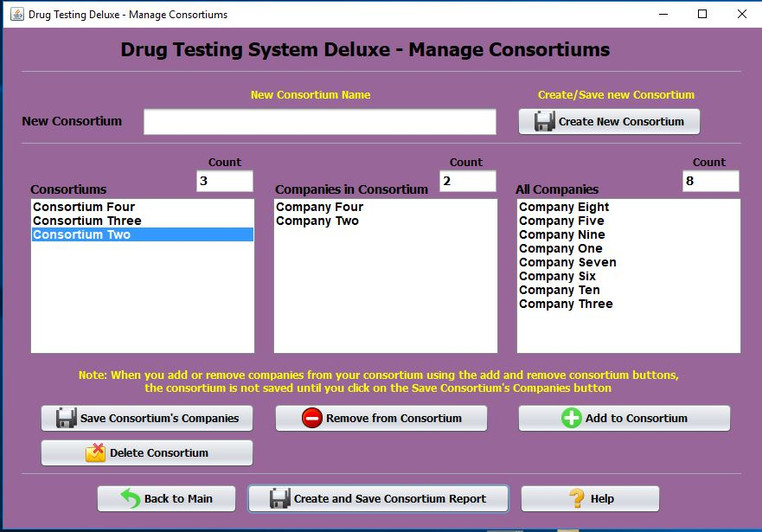 Drug Testing Software Program Manage Consortium