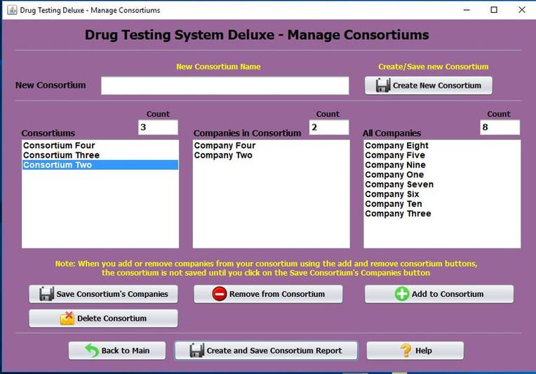 Drug Testing Software Program Manage Consortium