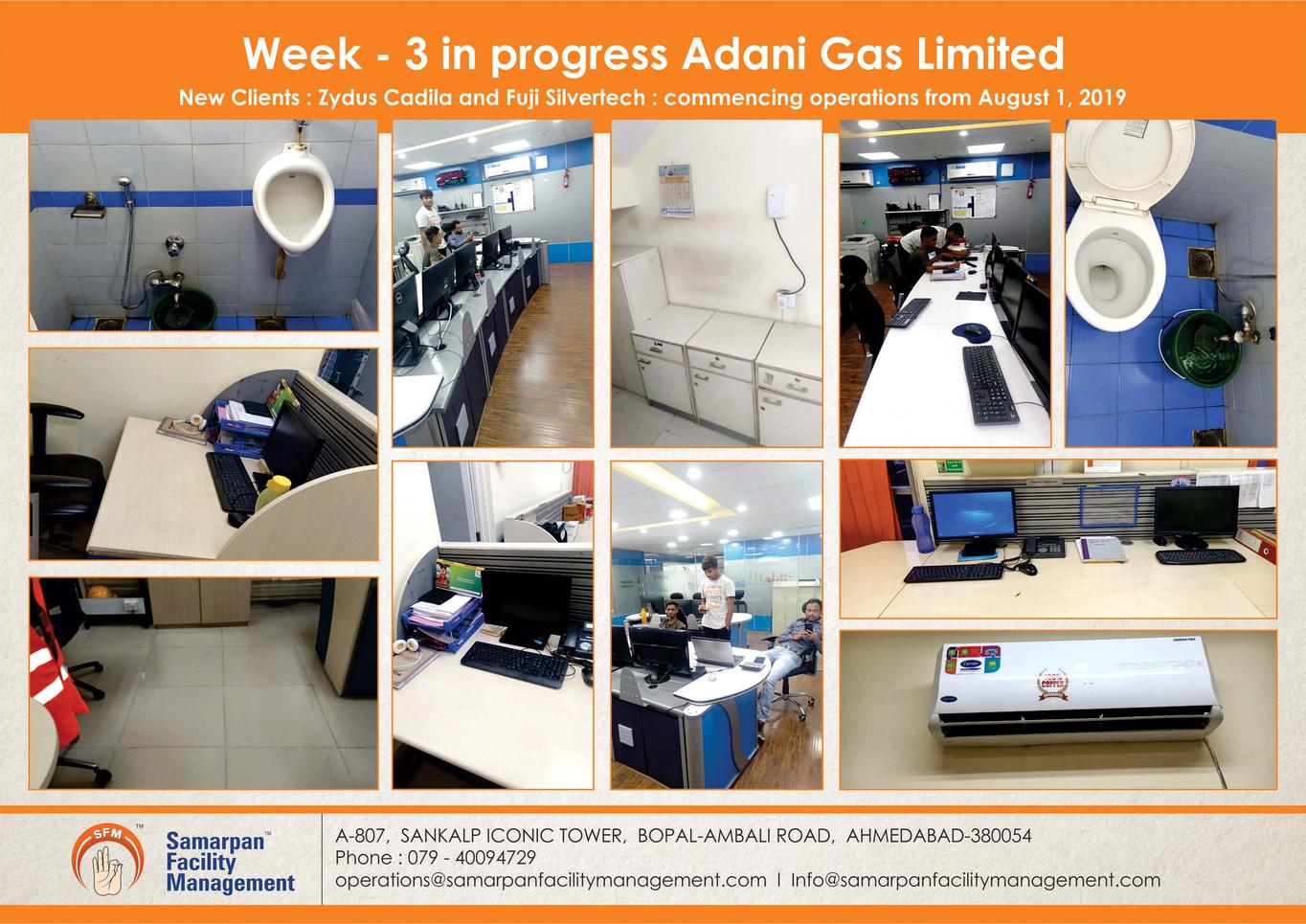 Week - 3 in progress Adani Gas Limited