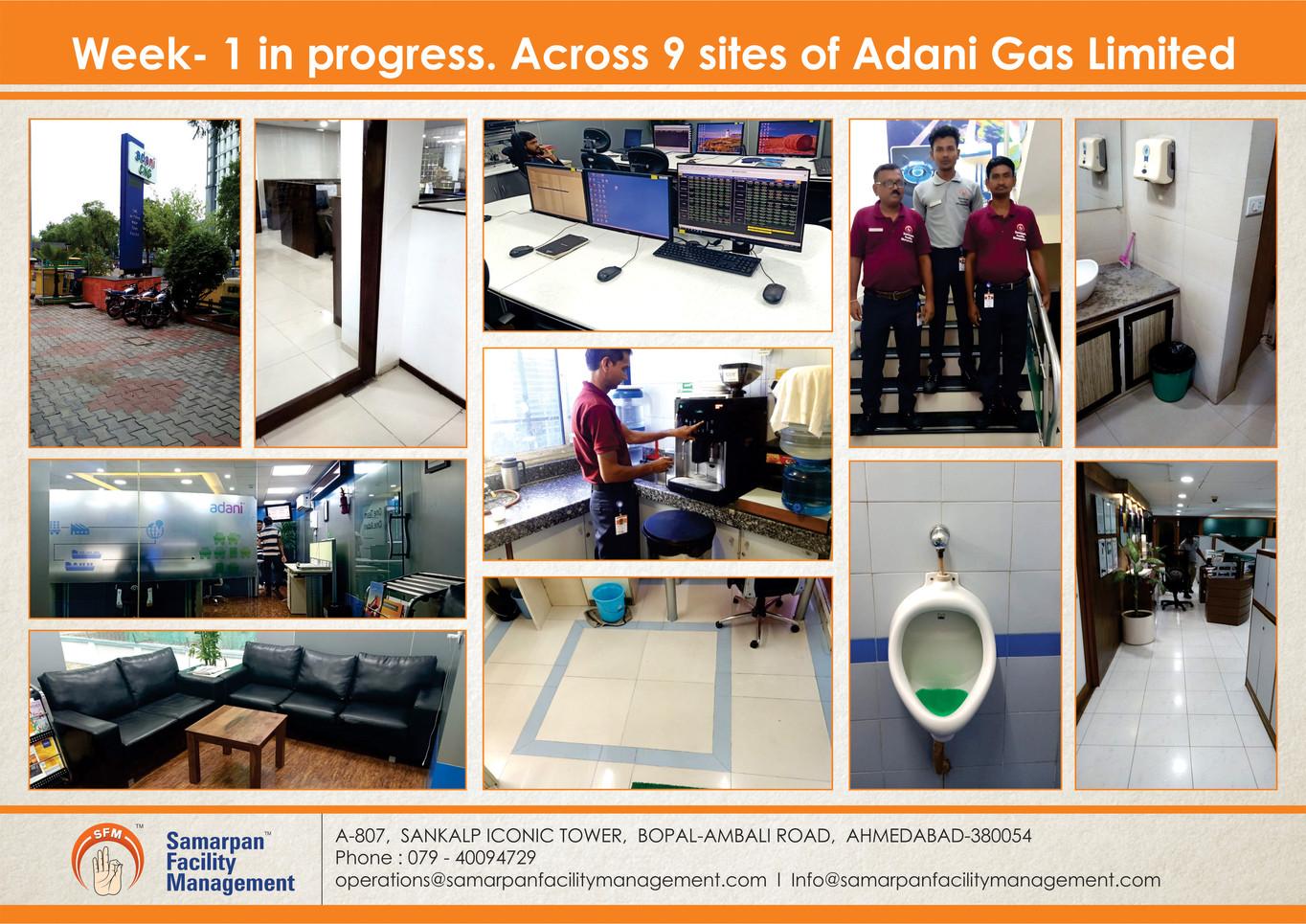 Week- 1 in progress. Across 9 sites of Adani Gas Limited