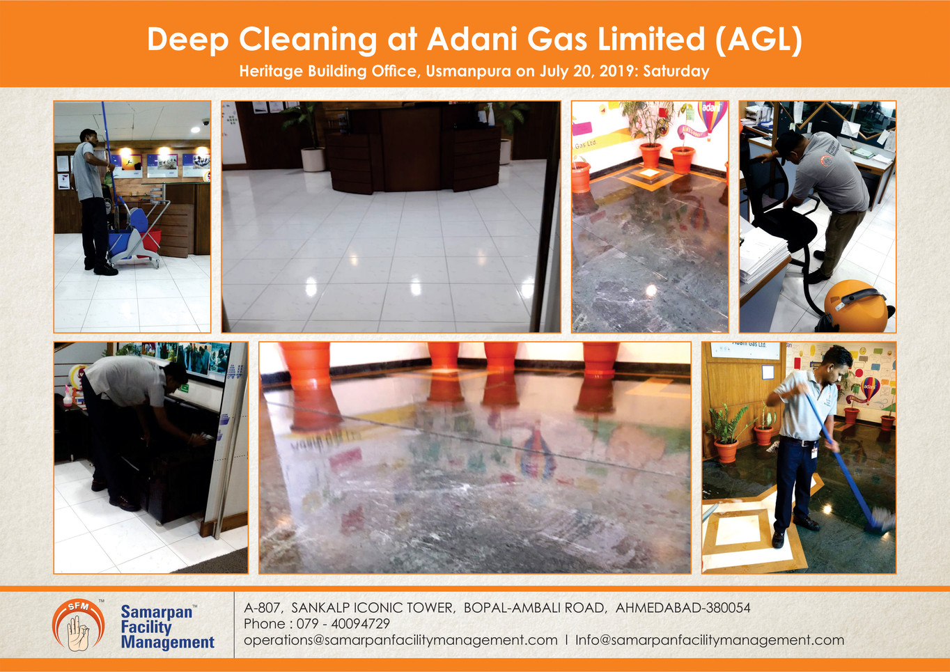 Deep Cleaning at Adani Gas Limited (AGL)