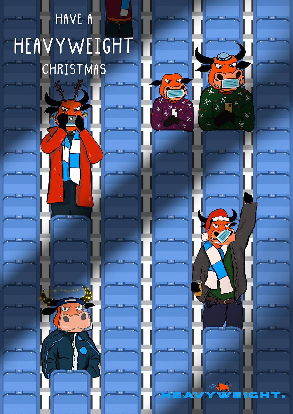 Heavyweight Sports Christmas Card