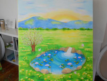 'Quelle' Acryl auf Leinwand 80cm x 100cm