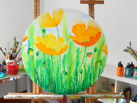 Alles in rund....  😊 -  'Mohn in orange'
