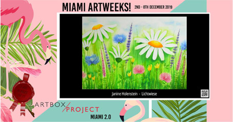 Teilnahme Miami Artweeks December 2019