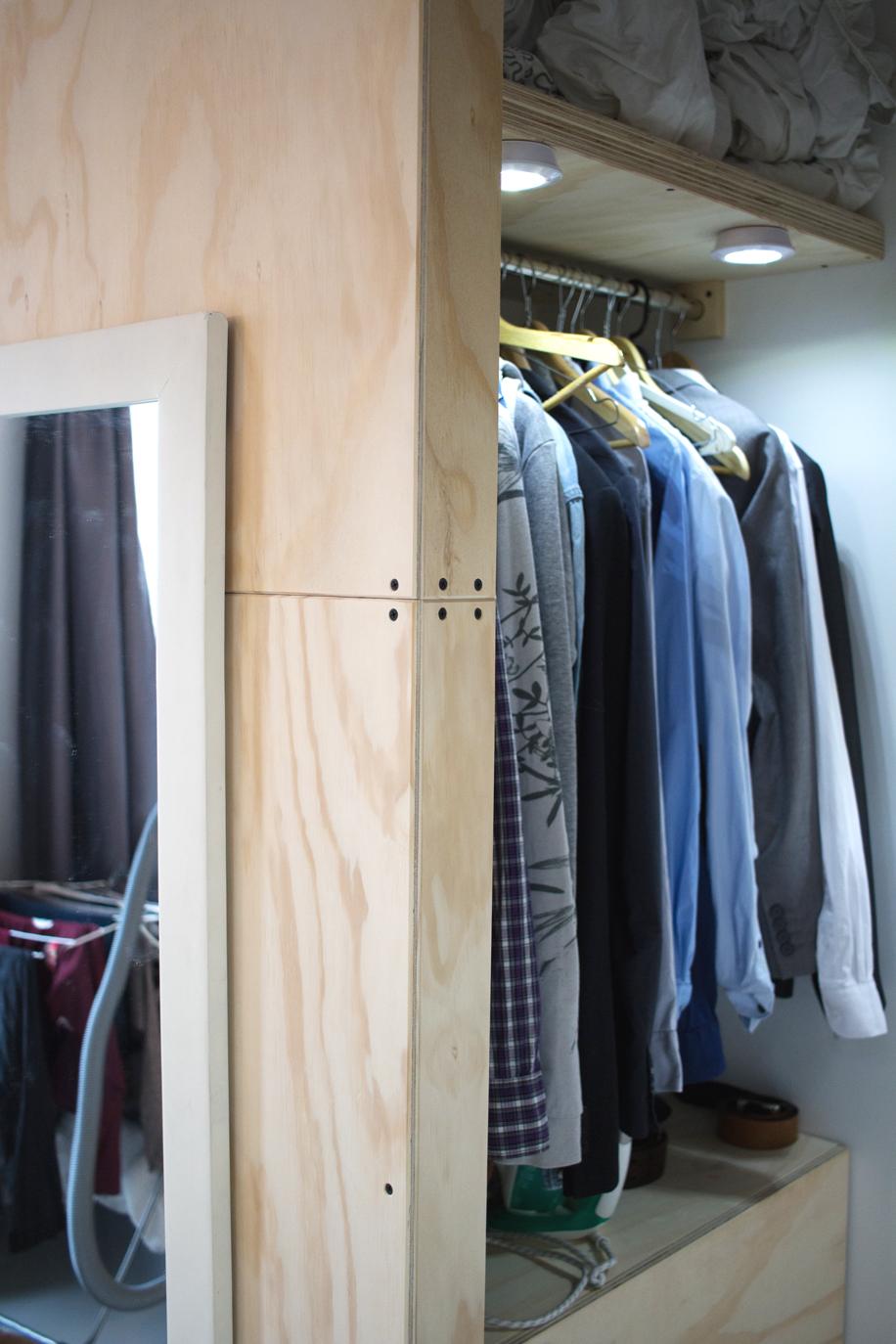 Inloop kledingkast