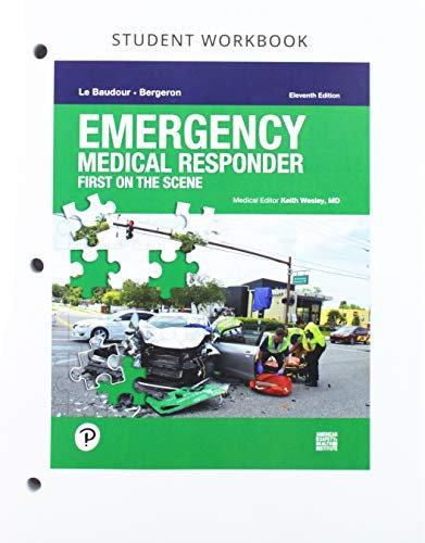 Emergency Medical Responder: First on Scene, 11th Edition, Workbook