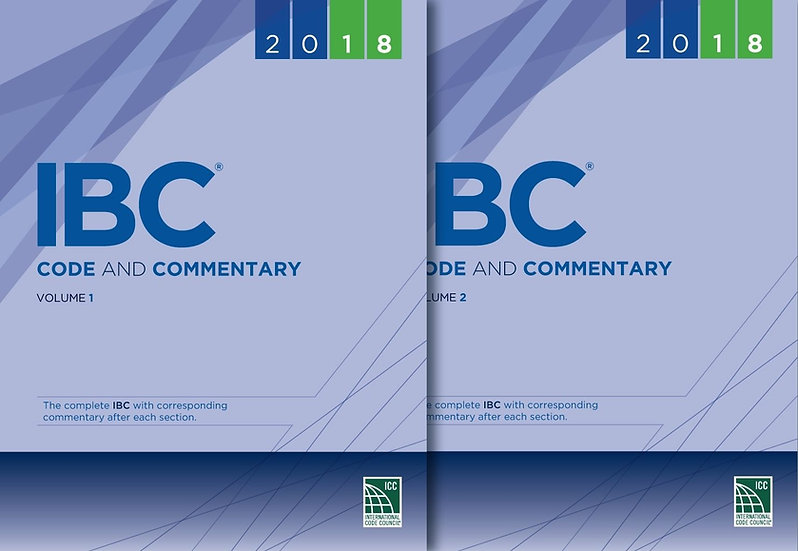 2018 IBC Code and Commentary Combo, Vol. 1 & 2