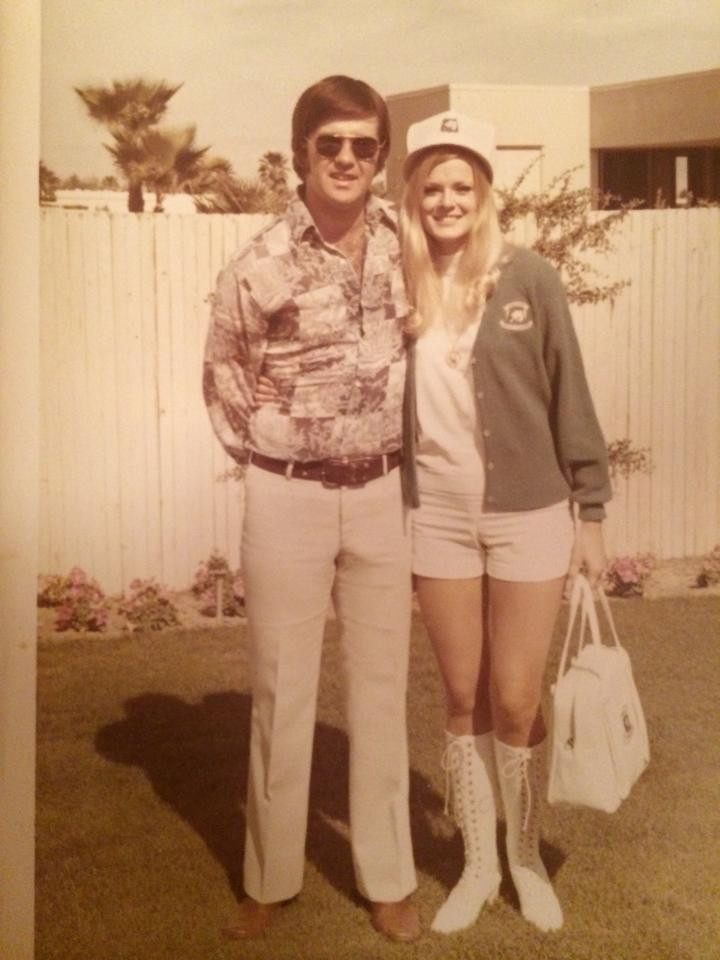 Alan Thicke and Gloria Loring at the Gene Autry Hotel in the late 60's.