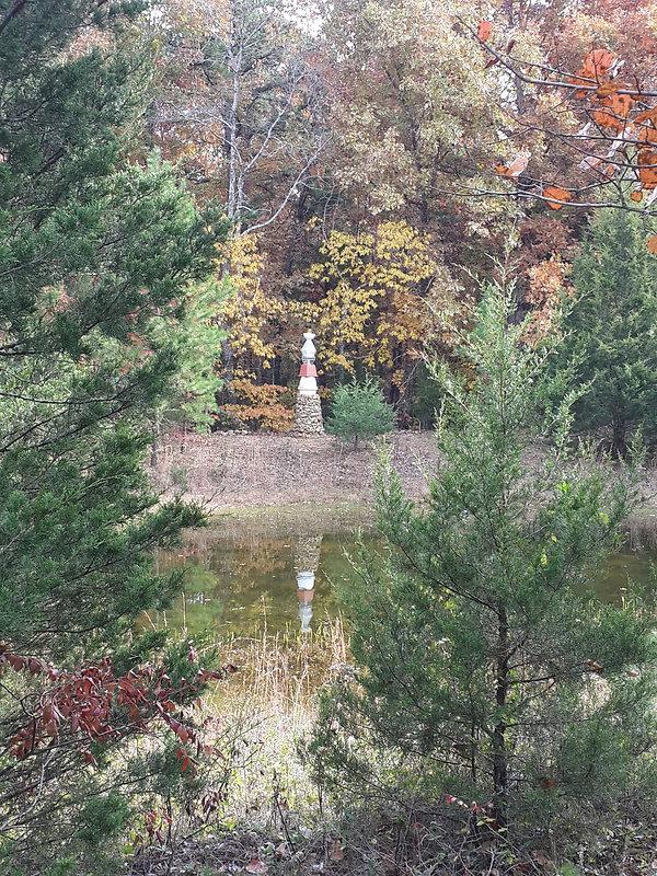 Stupa reflection