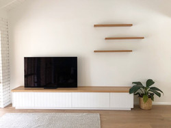 "The ""Turner"" Entertainment Unit w/ Floating Shelves"