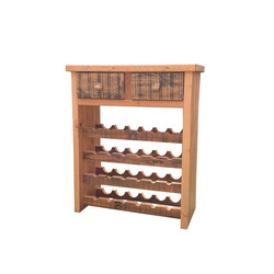 2 Drawer 24 Bottle Wine Rack