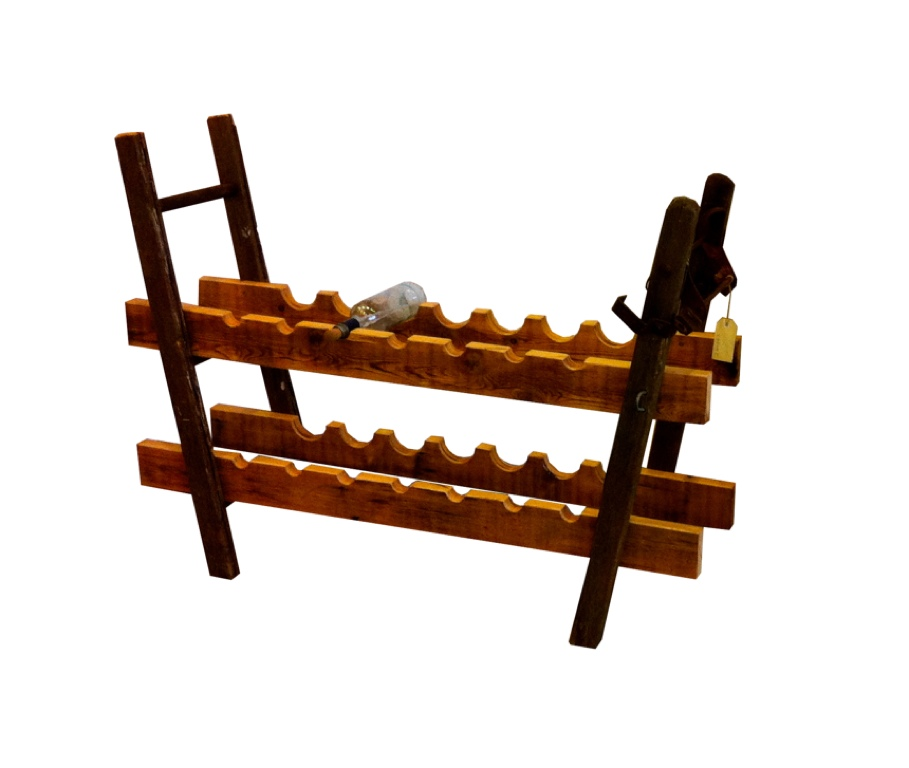 Ladder Leg Wine Rack