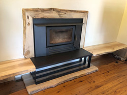 Live Edge Fireplace Surround