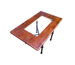 Steel Leg Side Table