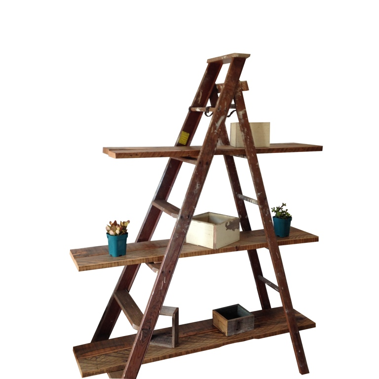 Recycled Step Ladder Shelves