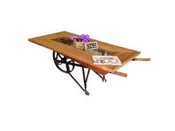 Wheel barrow table