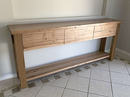 Recycled Hardwood Console Table