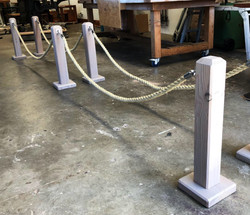 Custom Barrier Rope and Posts.