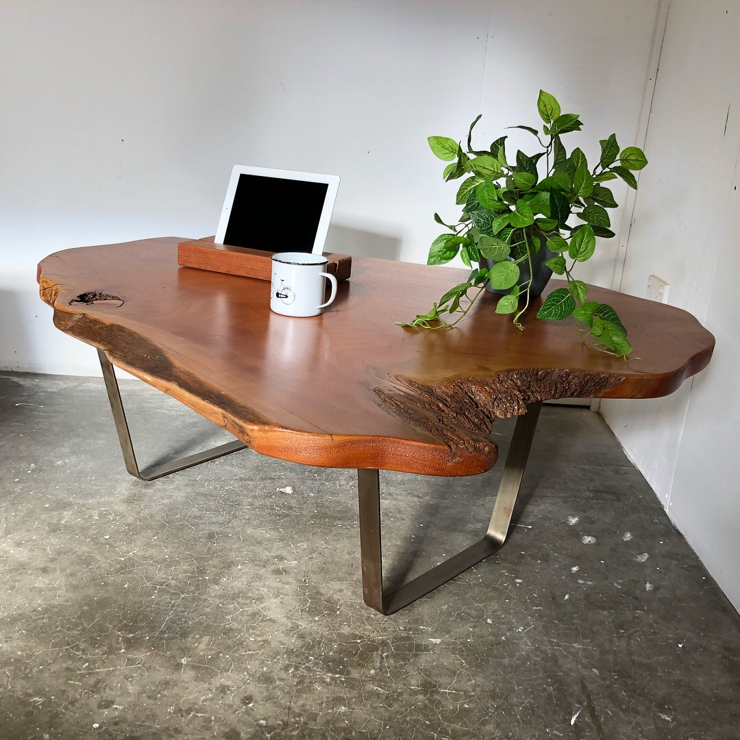 'Live Edge' Cedar coffee table