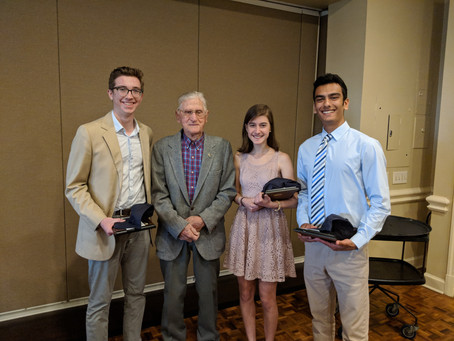 Three HMHS Students Received Youth of the Year Awards from Lions Club!