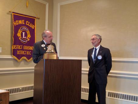 Robert S. Stokes sworn in as new club President