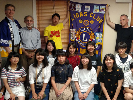 Lions Club hosts Japanese Exchange Students