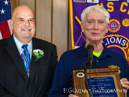 Haddonfield Lion Bob Turner wins Citizen of the Year!