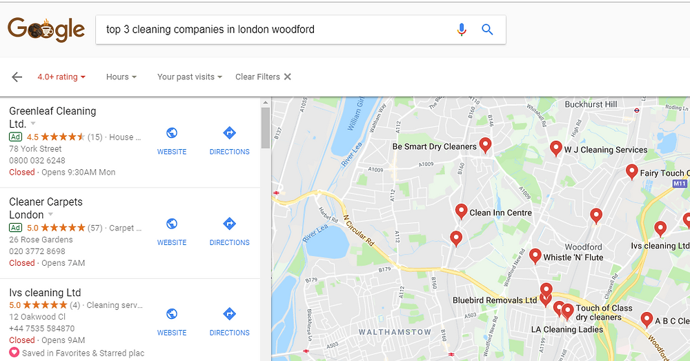 Top 3 cleaning companie in London woodford