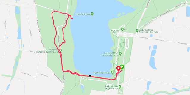 Lysterfield Lake  tramline walk route