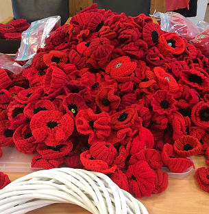 Upper Beaconsfield Community Centre poppy making community project remebrance day 2018