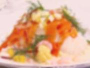 Skalade räkor,ägg, citronfiléer med dillm