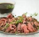 Svensk grillad rostbiff med hemgjord pic
