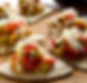 Mini tostada med citronstekt haloumiost