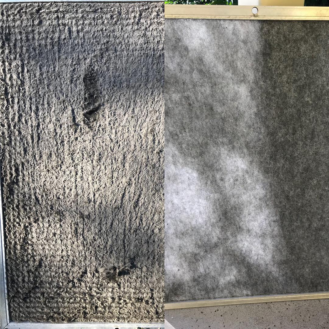 Before/After filter replacement